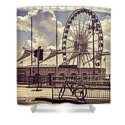 The Brighton Wheel Shower Curtain