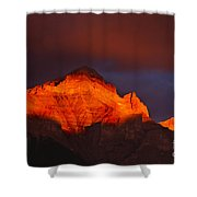 The Brilliance Of Light Mount Rundle Banff Shower Curtain