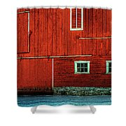 The Broad Side Of A Barn Shower Curtain by Lois Bryan
