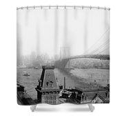 The Brooklyn Bridge 1902 Shower Curtain