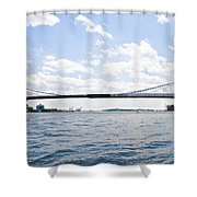 The Brooklyn Bridge And East River Shower Curtain