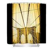 The Brooklyn Bridge New York Shower Curtain