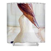 The Brown Bird Shower Curtain