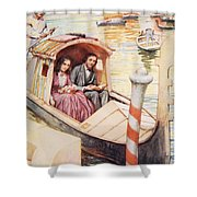 The Brownings In Venice Shower Curtain