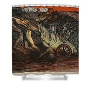 The Burden Of Taxation, Illustration Shower Curtain by Eugene Cadel