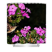 The Butterfly Garden At Night Shower Curtain