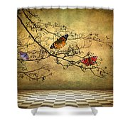 The Butterfly Room Shower Curtain