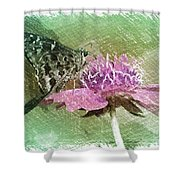 The Butterfly Visitor Shower Curtain