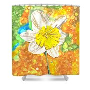 The Buzzing Life Of A Spring Narcissus Shower Curtain