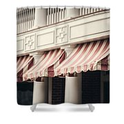 The Cafe Awnings At Chautauqua Institution New York  Shower Curtain