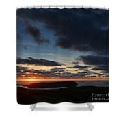 The Calf From A Hilltop In Twilight I Shower Curtain