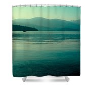 The Calmness Of Priest Lake Shower Curtain