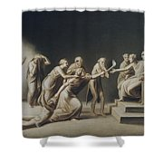 The Calumny Of Apelles Shower Curtain