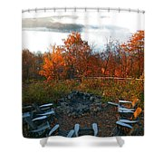The Campsite Shower Curtain