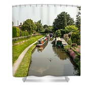 The  Trent And Mersey Canal At Alrewas Shower Curtain