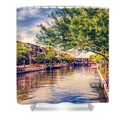 The Canal In Downtown Scottsdale Shower Curtain