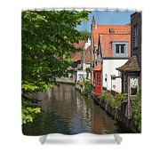 The Canal In The Downtown Of Bruges  Shower Curtain
