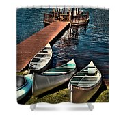 The Canoes At Big Moose Inn Shower Curtain