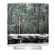 The Canoes  Shower Curtain