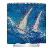 The Canvas Can Do Miracles Shower Curtain