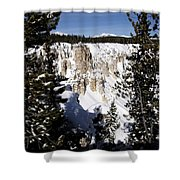 The Canyon In Winter Shower Curtain
