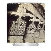 The Capitals Of The Portico Of The Temple Of Khnum In Esna Shower Curtain