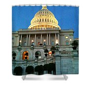 The Capitol At Dusk Shower Curtain