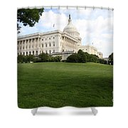 The Capitol Hill View Washington Dc Shower Curtain