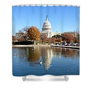 The Capitol In Fall Shower Curtain