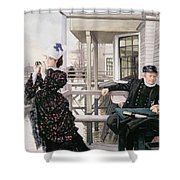The Captains Daughter Shower Curtain