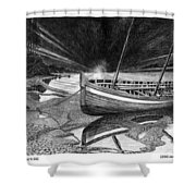 Captain Vancouvers Gig Shower Curtain