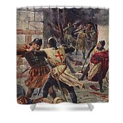 The Capture Of Constantinople Shower Curtain