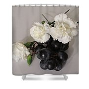 The Carnation Bunch Shower Curtain