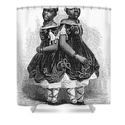 The Carolina Twins, 1866 Shower Curtain