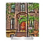 The Carrie Bradshaw Stoop From Sex And The City Shower Curtain
