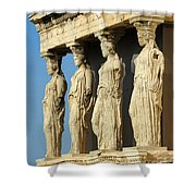 The Caryatid Porch Shower Curtain