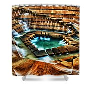 The Cascading Falls - Fort Worth Water Garden  Shower Curtain