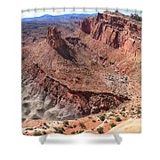The Castle In Capitol Reef Np Shower Curtain
