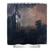 The Castle In The Moonlight  Shower Curtain
