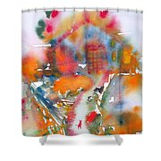 The Cat Getting Back Home Shower Curtain