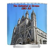The Cathedral At Orvieto Shower Curtain