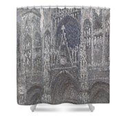 The Cathedral In Rouen Shower Curtain