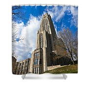 The Cathedral Of Learning 2g Shower Curtain