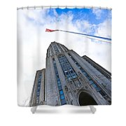 The Cathedral Of Learning 4 Shower Curtain