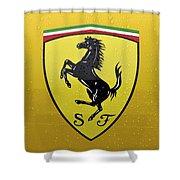 The Cavallino Rampante Symbol Of Ferrari Shower Curtain
