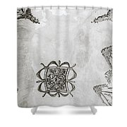 The Ceiling Design Shower Curtain