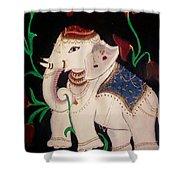 The Celestial Elephant Shower Curtain