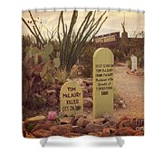 The Cemetery At Boothill Shower Curtain