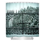 The Cemetery Gates Shower Curtain