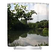 The Central Park Pond Shower Curtain